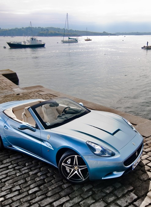Baby Blue Ferrari California